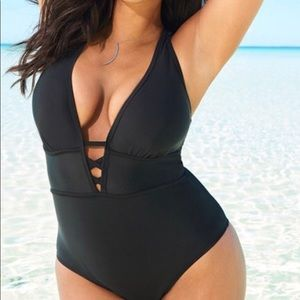 One piece black swimsuit from AdoreMe